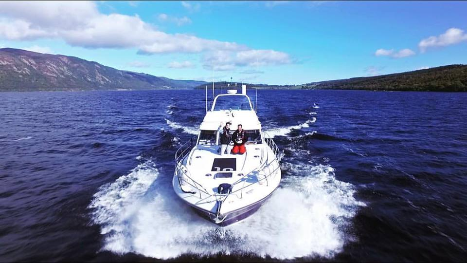 Drone operating from a moving boat for this film