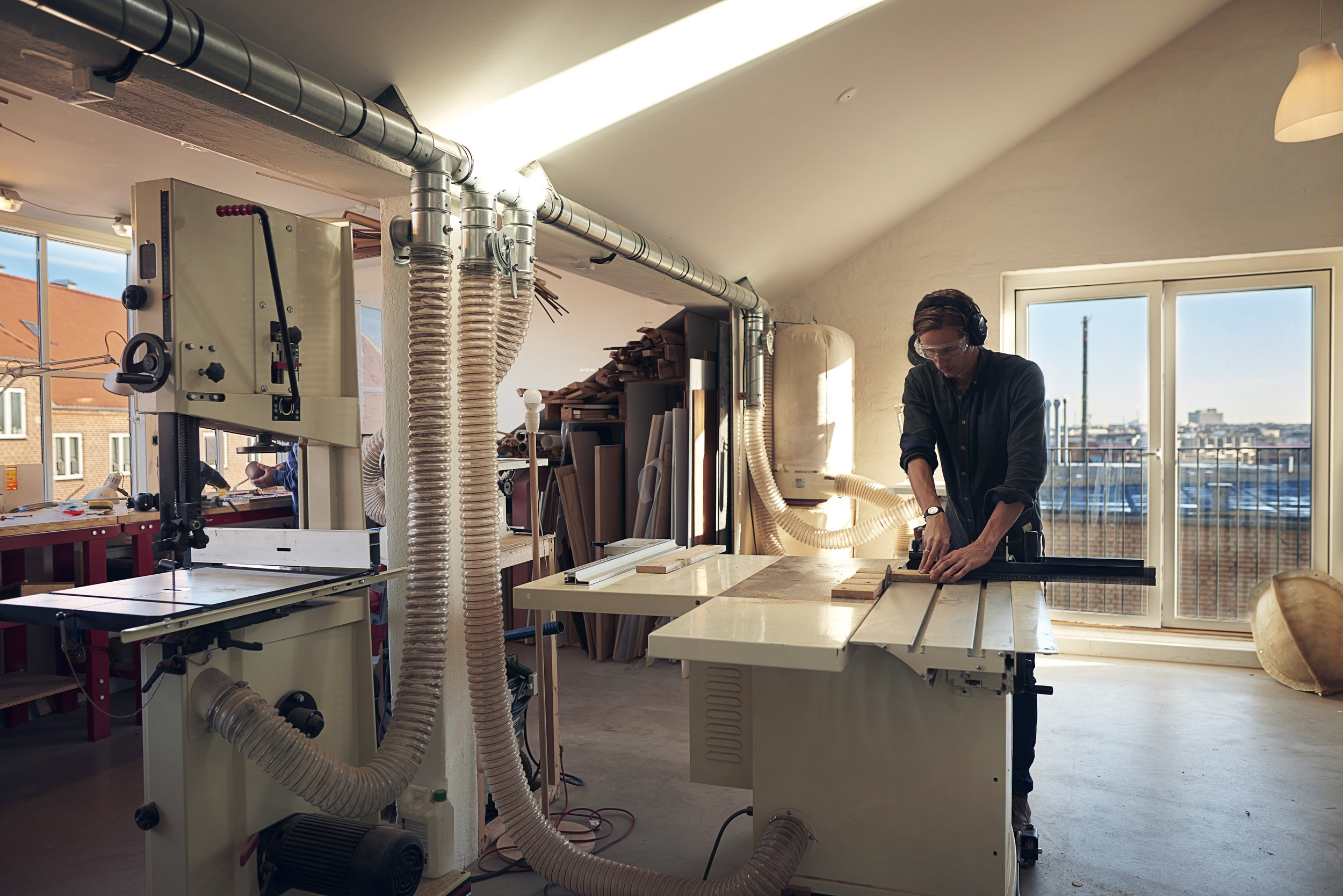 Building a mock-up in our workshop overlooking Copenhagen.