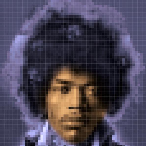 Jimi Hendrix Pixel Art by Tobias Batz