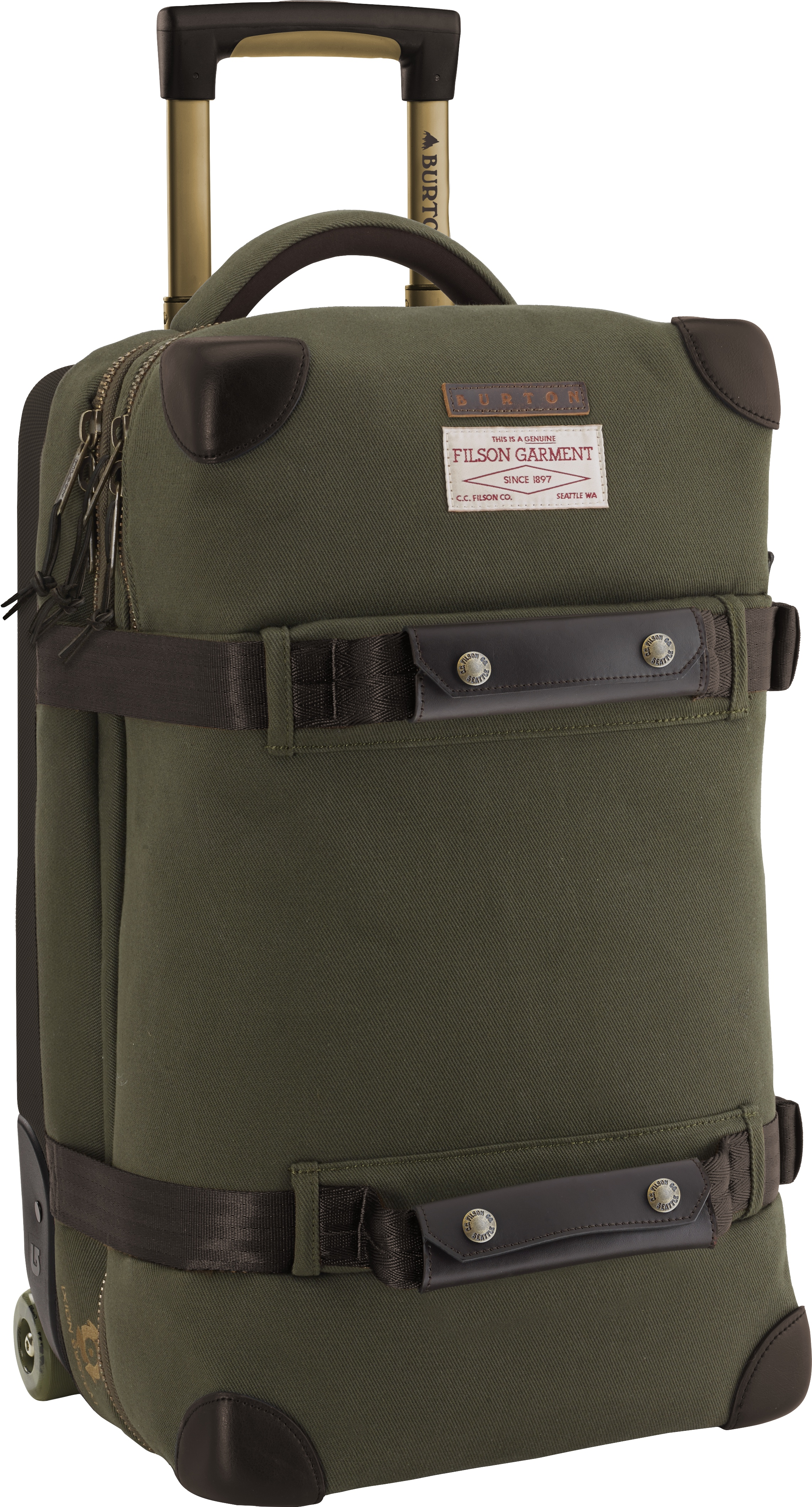 Burton x Filson® Wheelie Flight Deck Travel Bag, $400