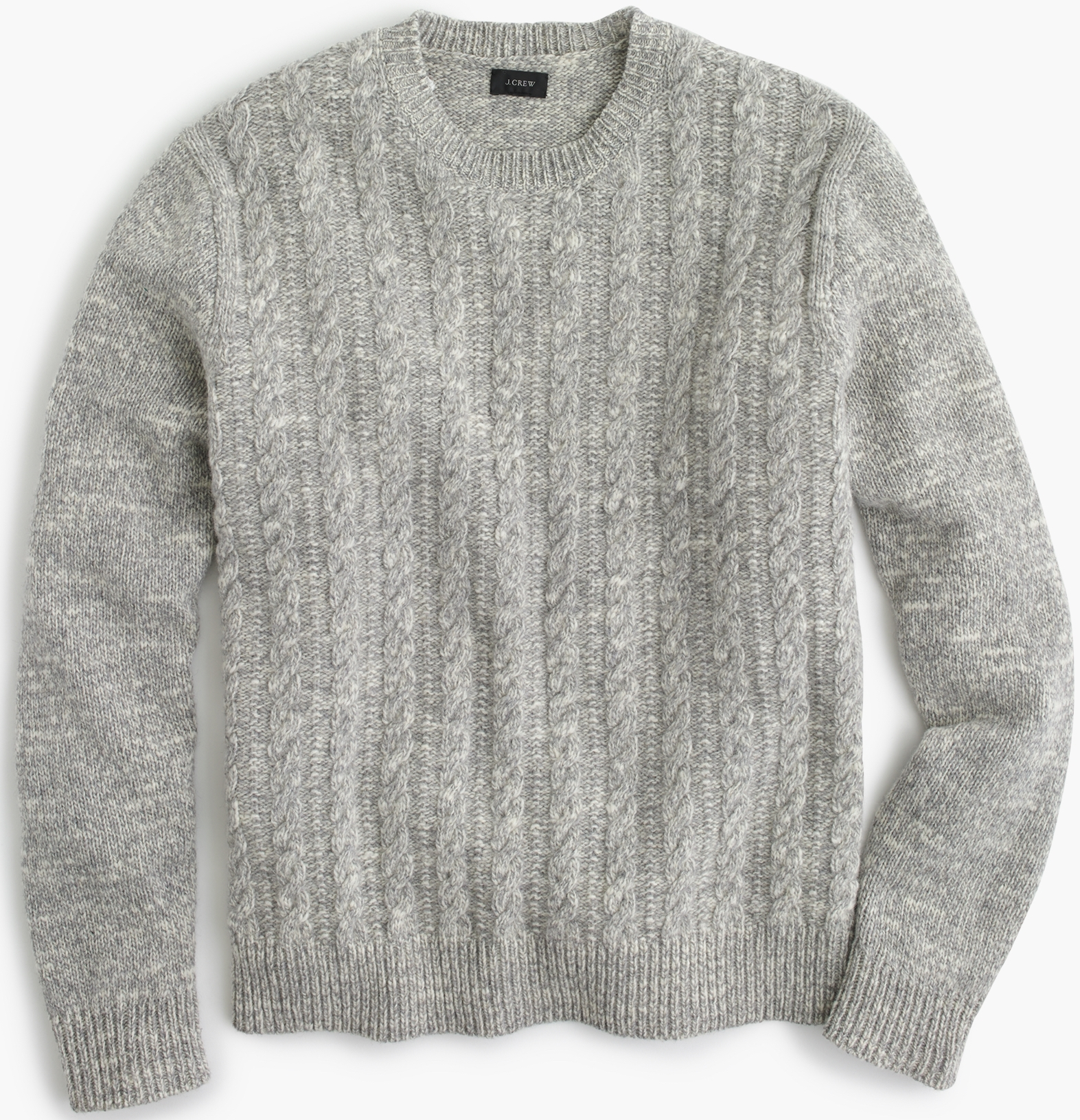 J.Crew Italian Wool Cable Sweater, $128