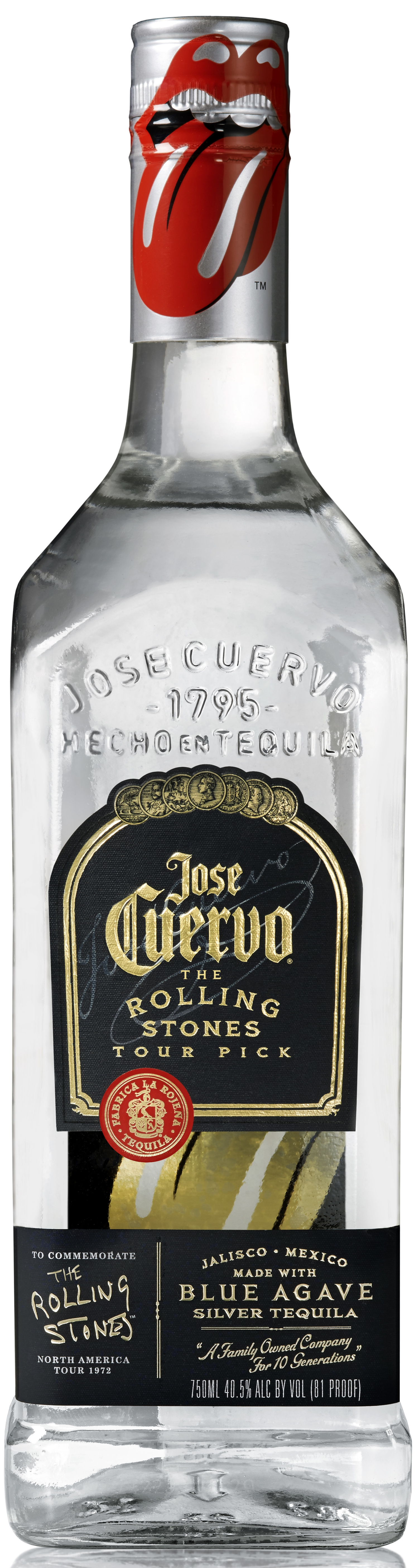 Jose Cuervo Special Edition Rolling Stones Bottle, $17