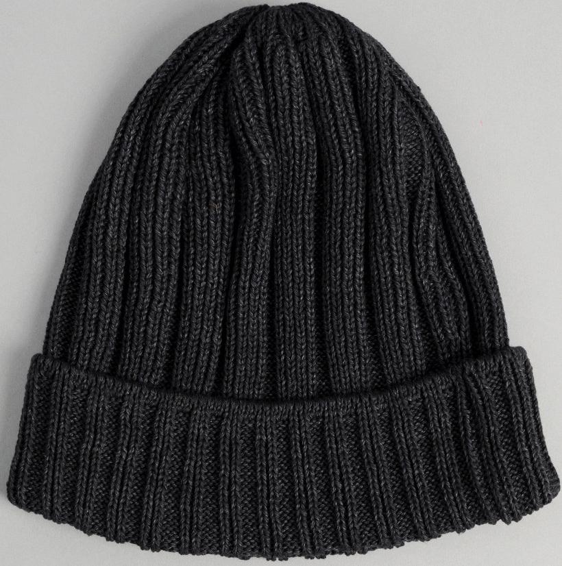 the Hill-side Faded Black Pima Cotton Knit Cap, $78