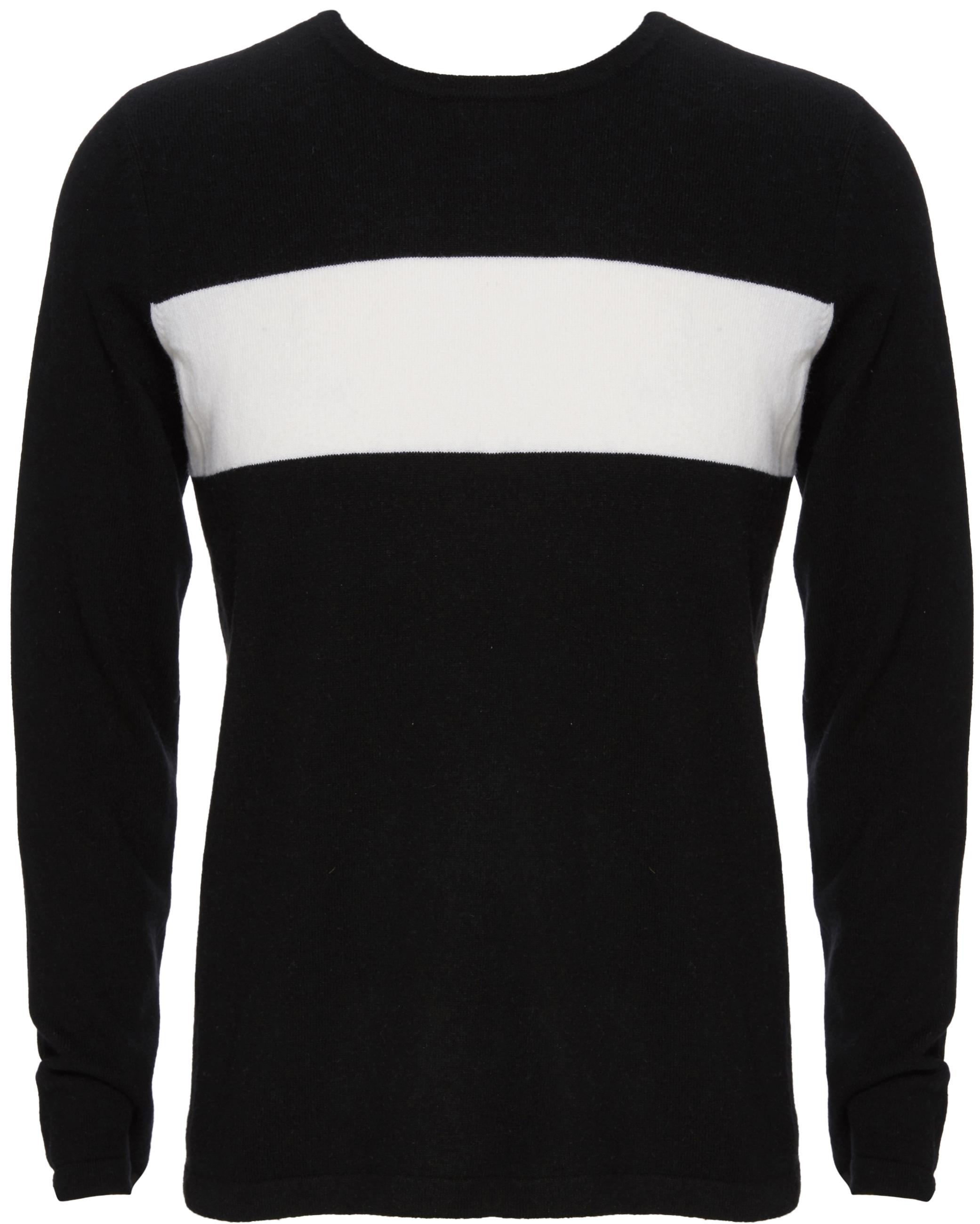 VINCE Wool Cashmere Block Stripe Crew Neck Sweater, $295
