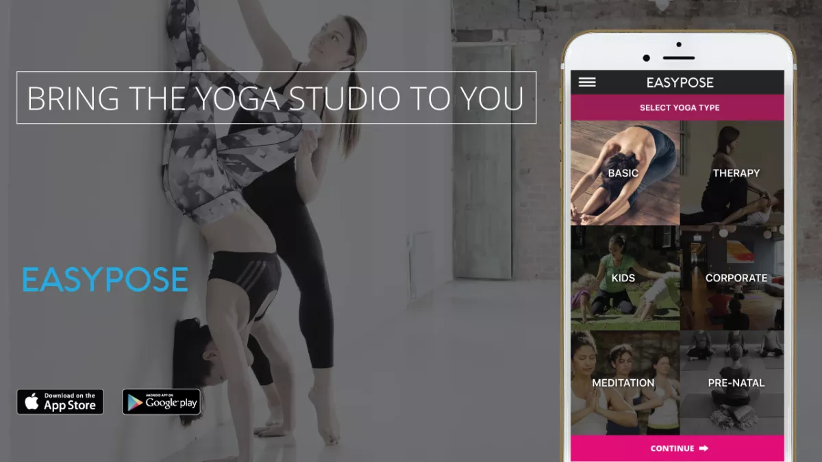 Easypose Yoga App, 10 Sessions for $80 per class