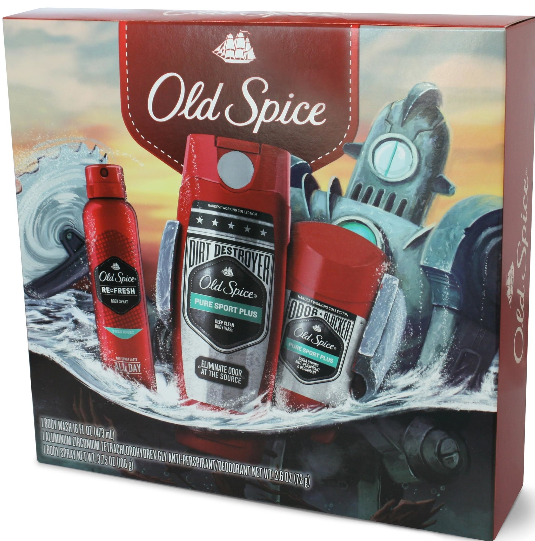 Old Spice Hardest Working Collection Pure Sport Plus Holiday Gift Set, $9.88