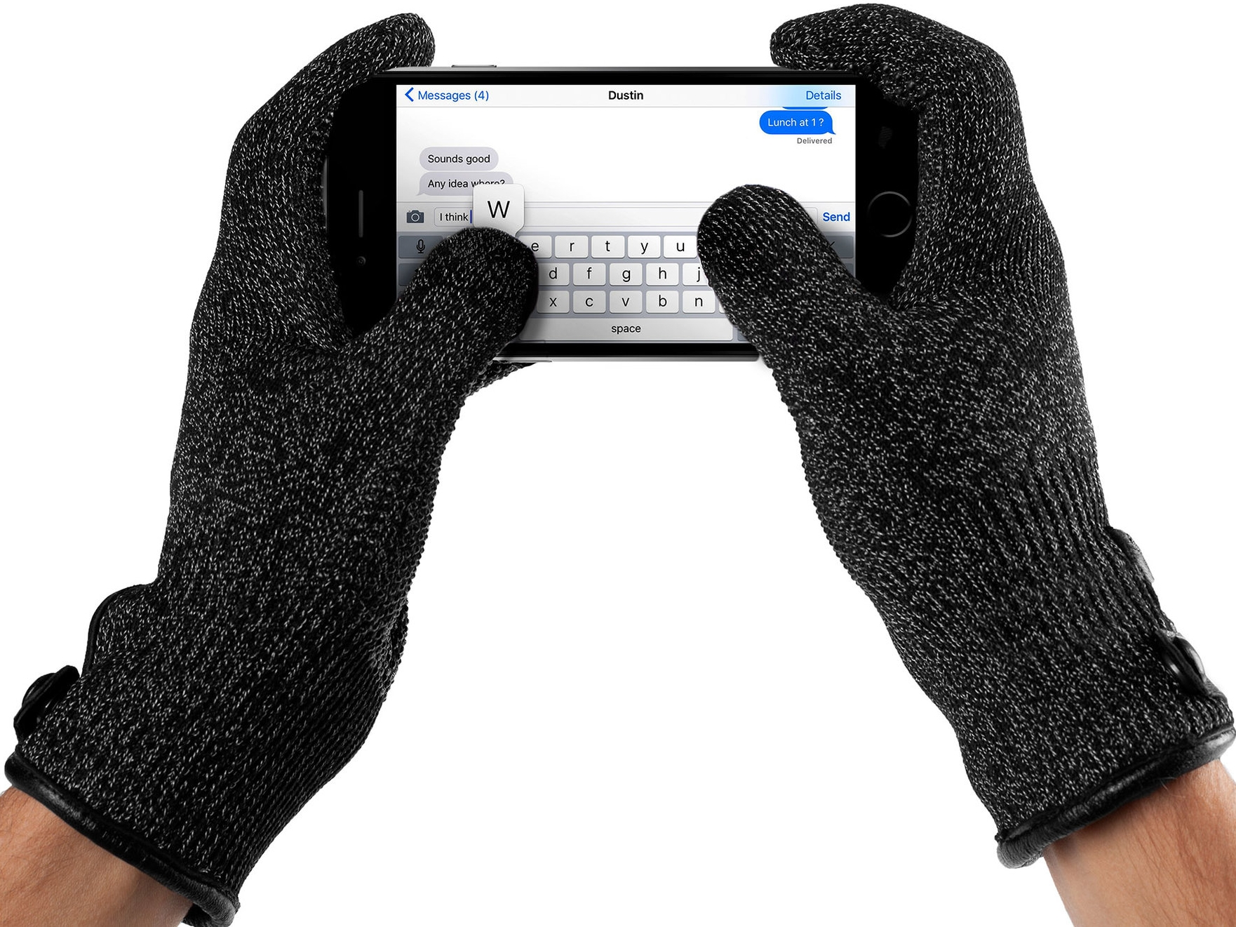 Mujjo Double Layered Touchscreen Gloves, €28.88