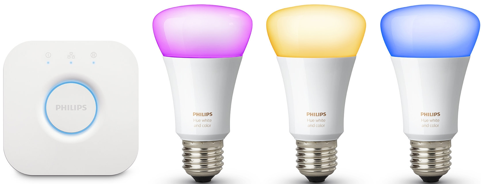 Philips Hue White and Color Ambiance A19 Starter Kit at Bed Bath & Beyond, $199.99