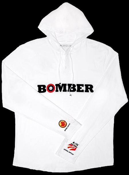 Bomber Hoodie, $95