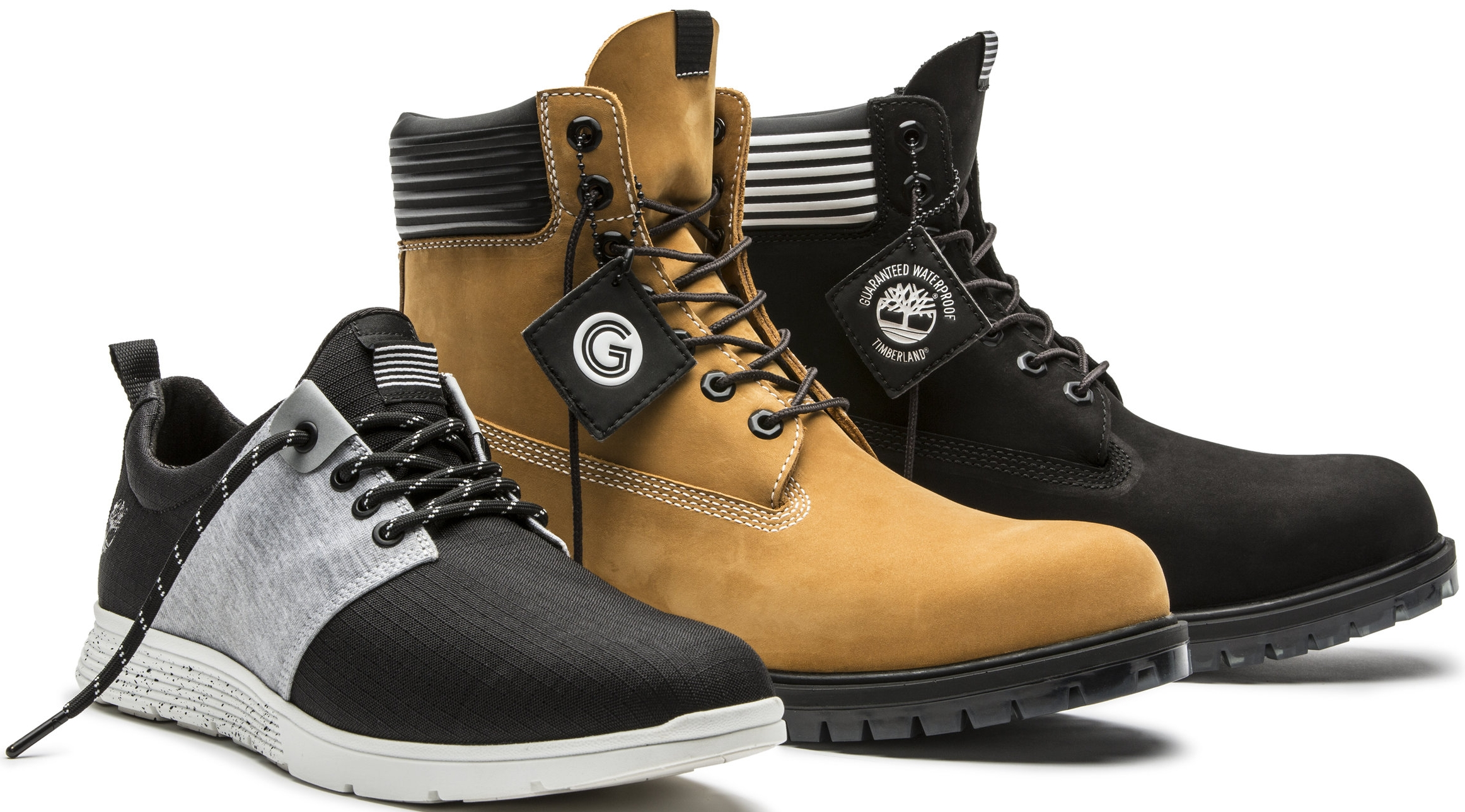 Grungy Gentleman x Timberland, (Boots) $240, (Sneakers) $110