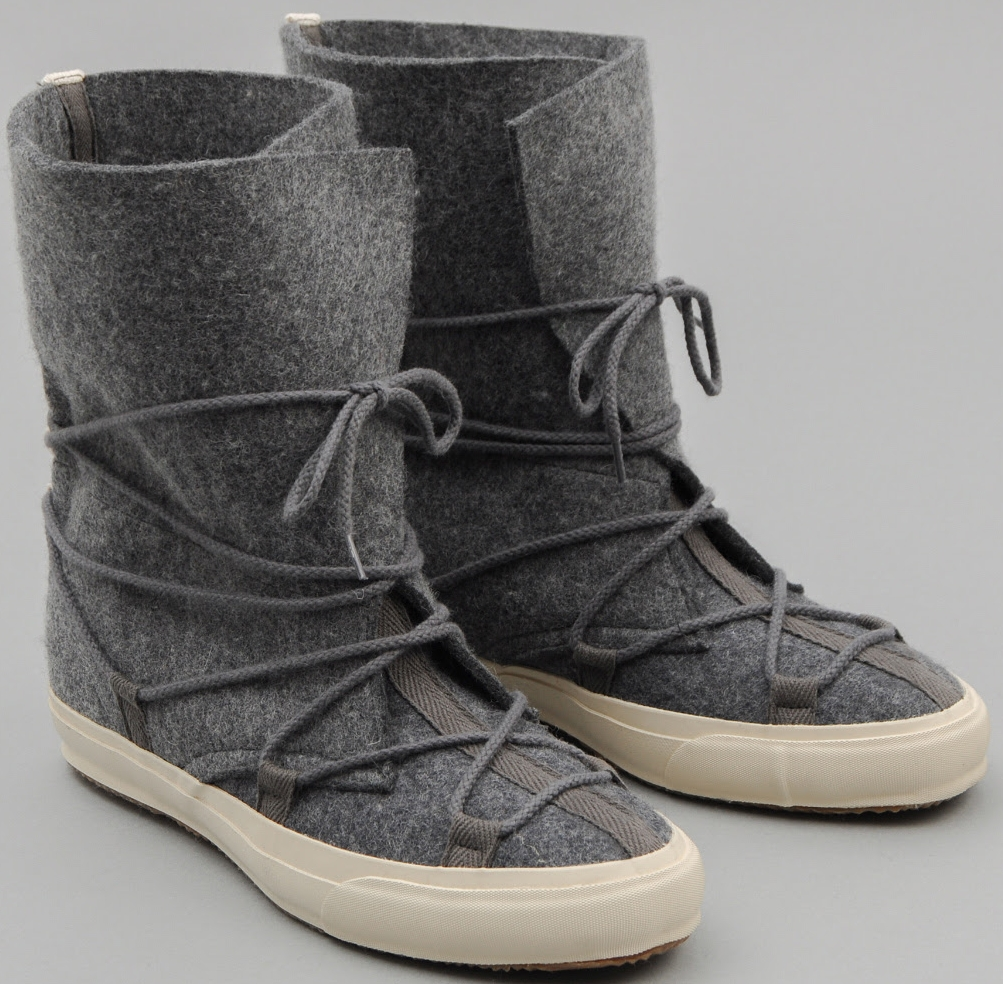 the Hill-side Cold Weather Survival Moccasin Boots, $250