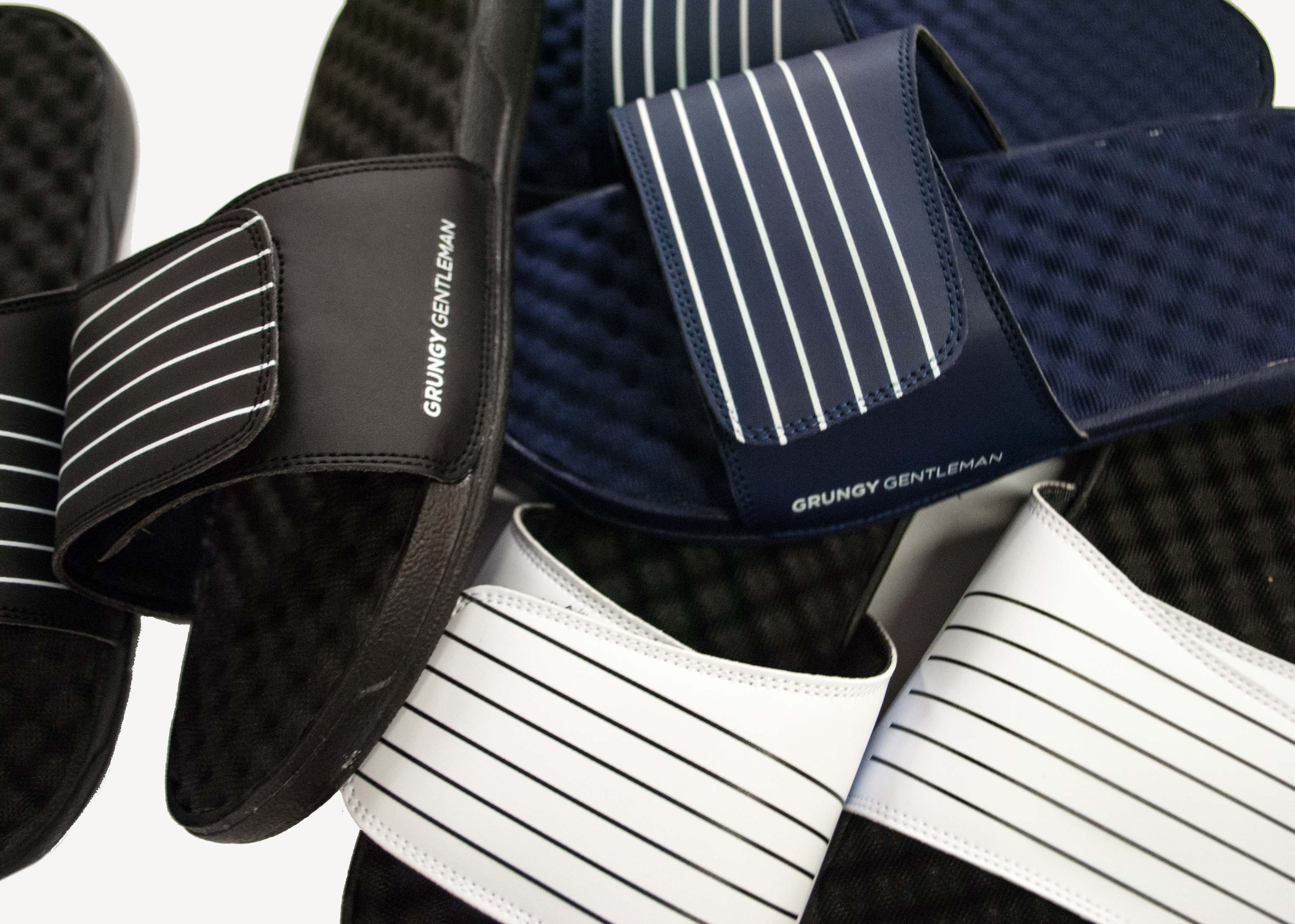 Grungy Gentleman Six Stripe Slide Sandals