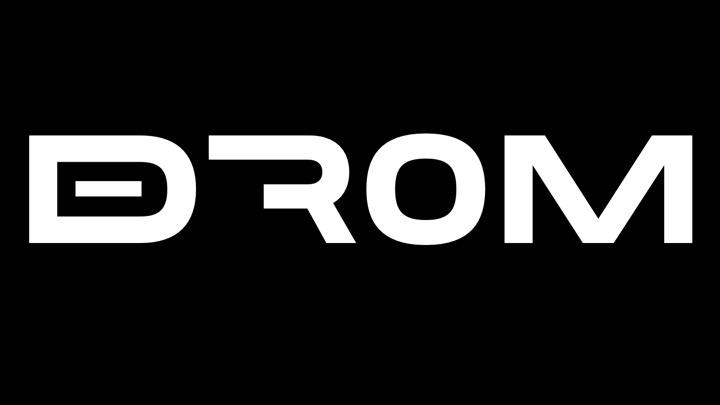 DROM Logo i svart ruta (liten)