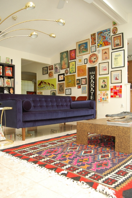 This living room via Jennifer Perkins that shows sometimes more is more