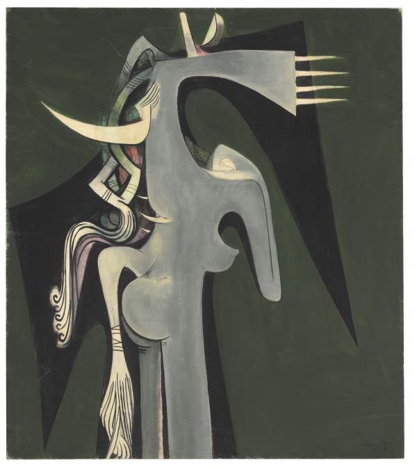 Wifredo Lam,  Horse-headed Woman, 1950