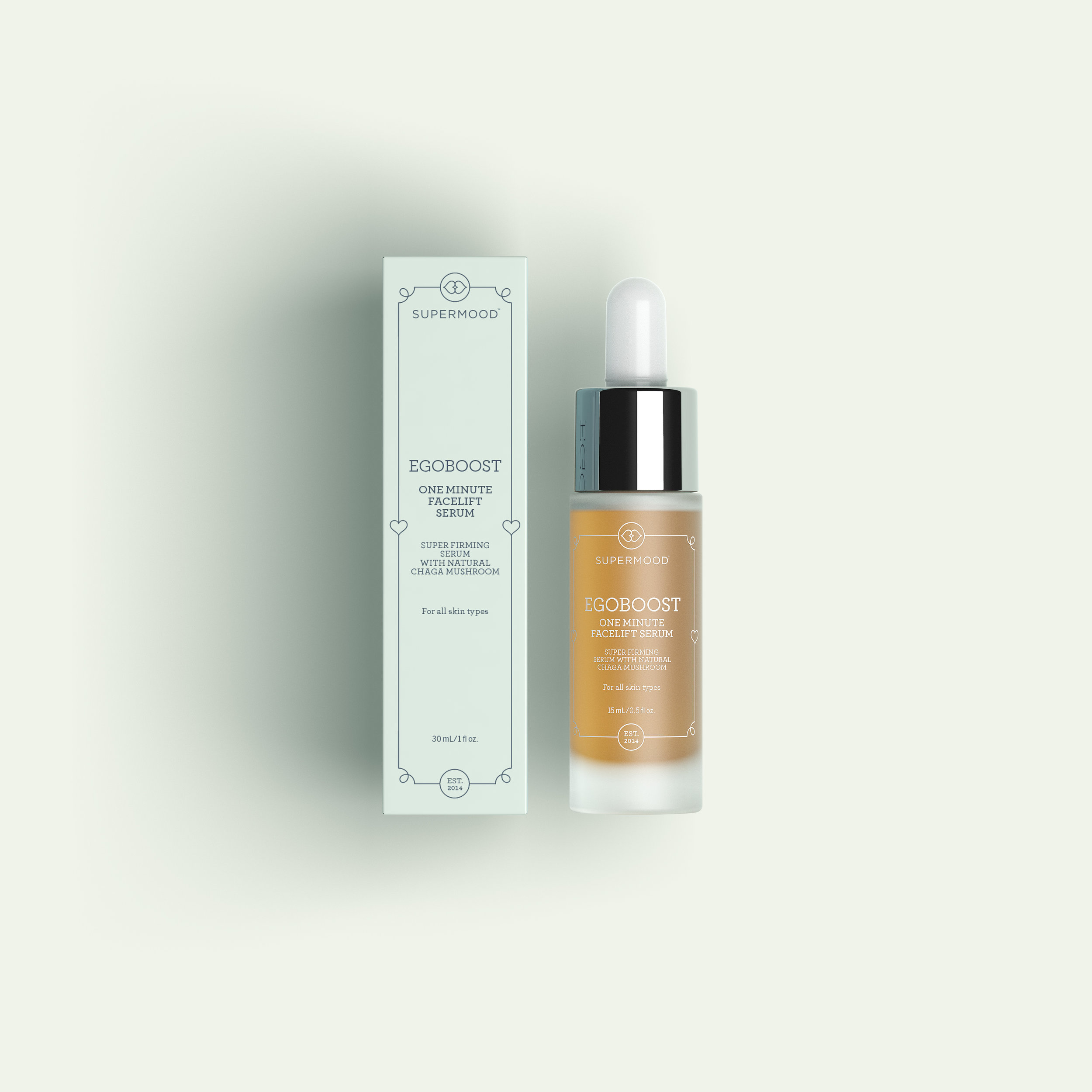 Egoboost: 1-minute facelift serum with Chaga.
