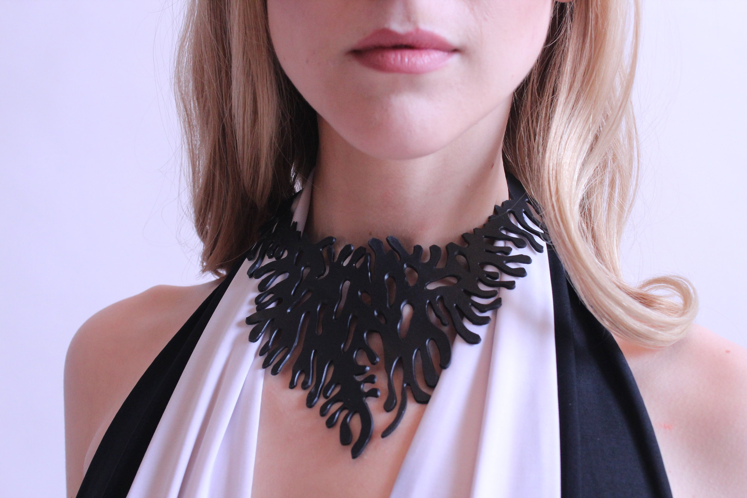 Coral Necklace by Cassandra Ciarallo, Chic Made Consciously 2016.