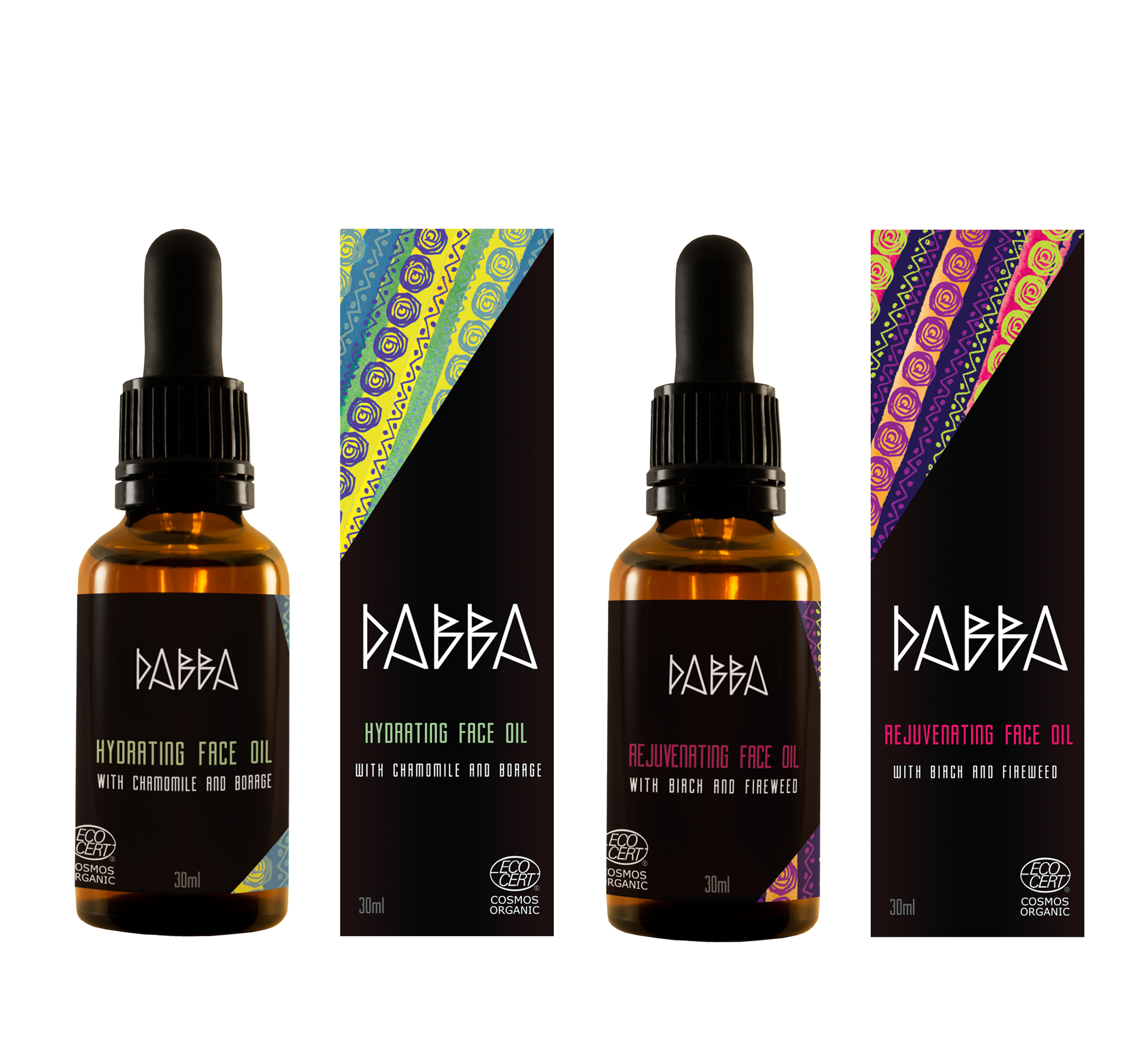DABBA face oils collection, 2016.