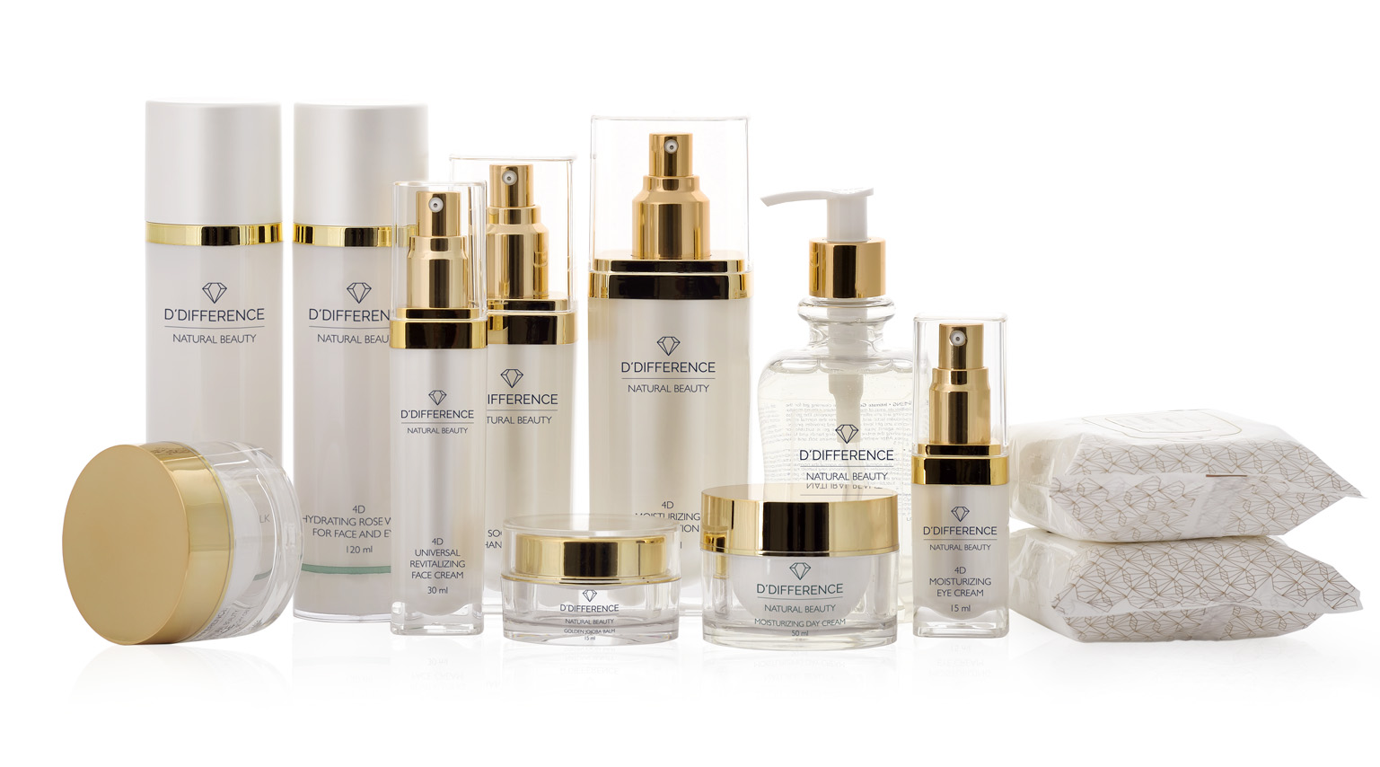 D'DIFFERENCE Natural Beauty skincare range.