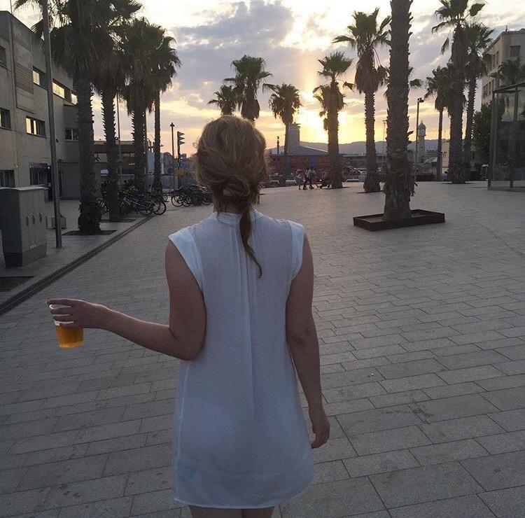 Sunset at Barceloneta Beach, Barcelona /Photo: Author's own.