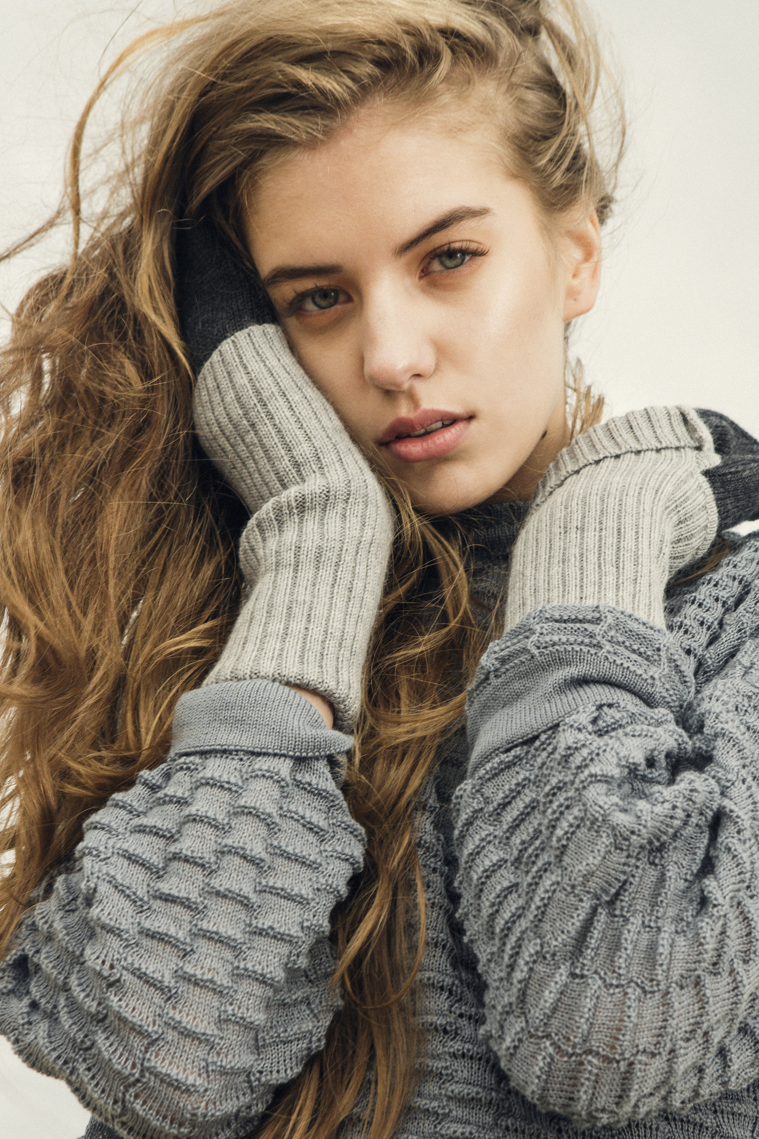 Liisa Soolepp's 'Talismans': Ethical Knitwear #Savant  - Image: Jana Solom /MUA: Marii Lotta / Styling: Marian Eespäev / Model: Saskia Maria (Icon)
