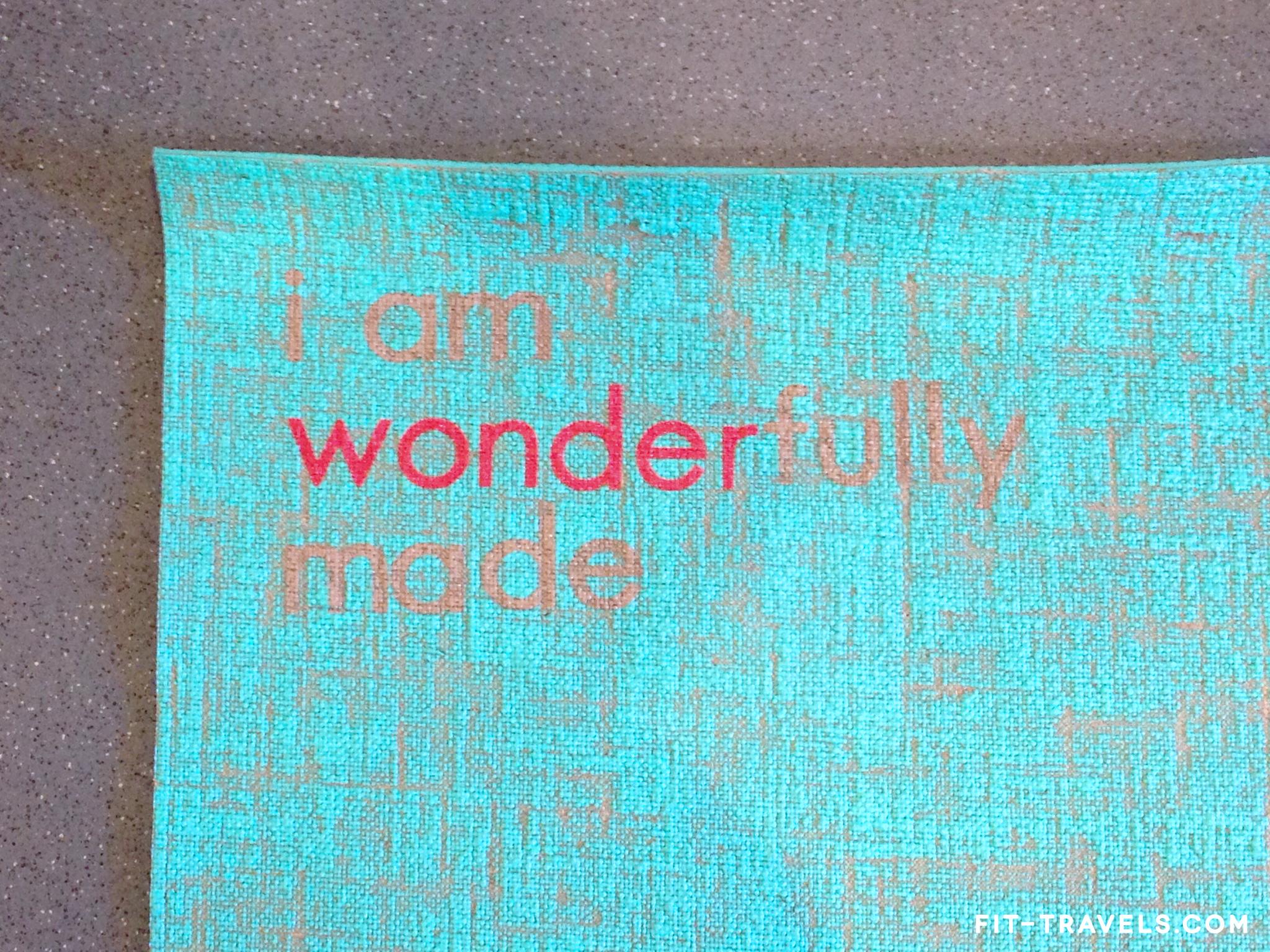 I Am Wonderfully Made Yoga Mat by Affirmats /  Source