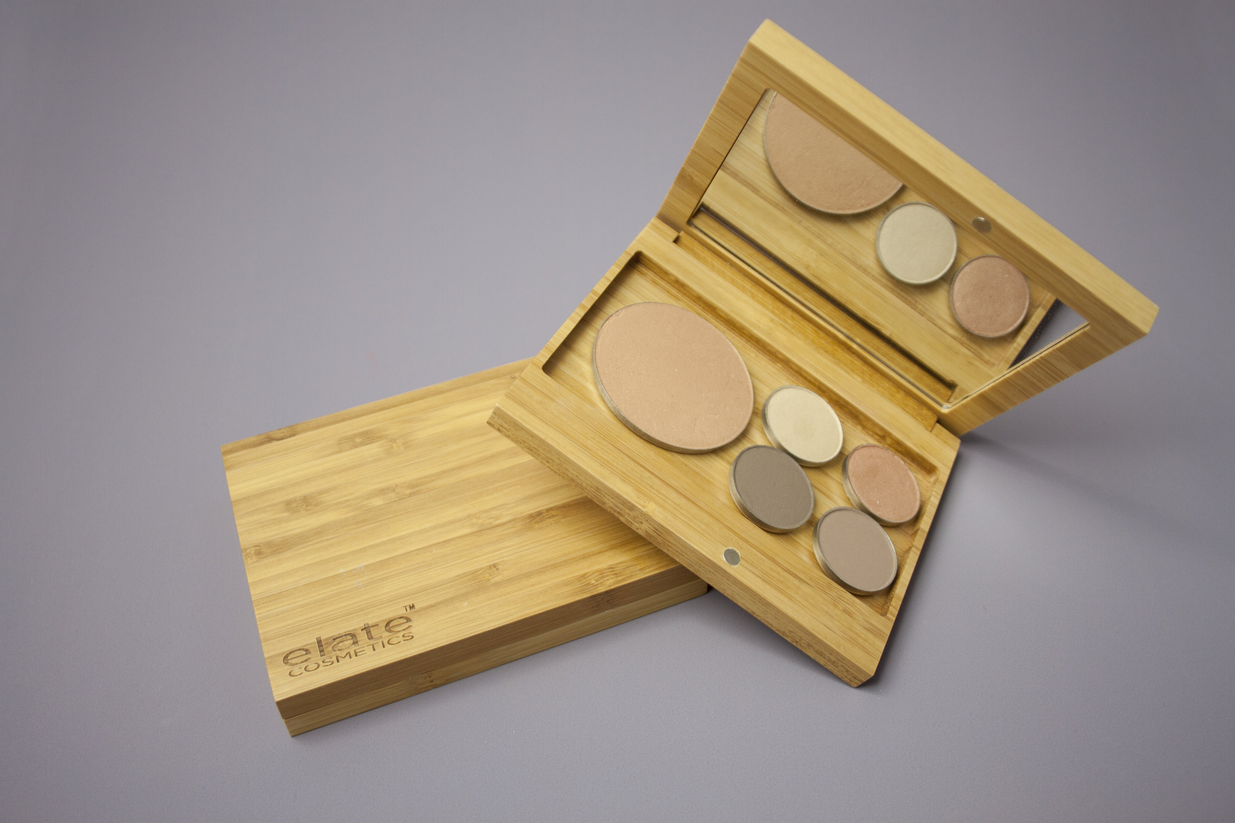 Image:    Bamboo Capsule Palette  / Elate Cosmetics