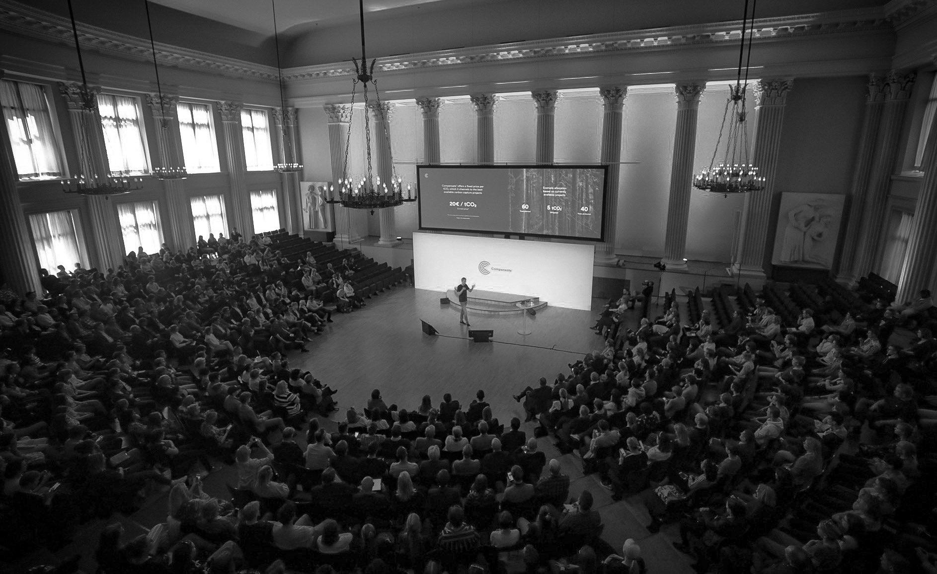 Image: Compensate Launch Event / Photo: Antti Rastivo