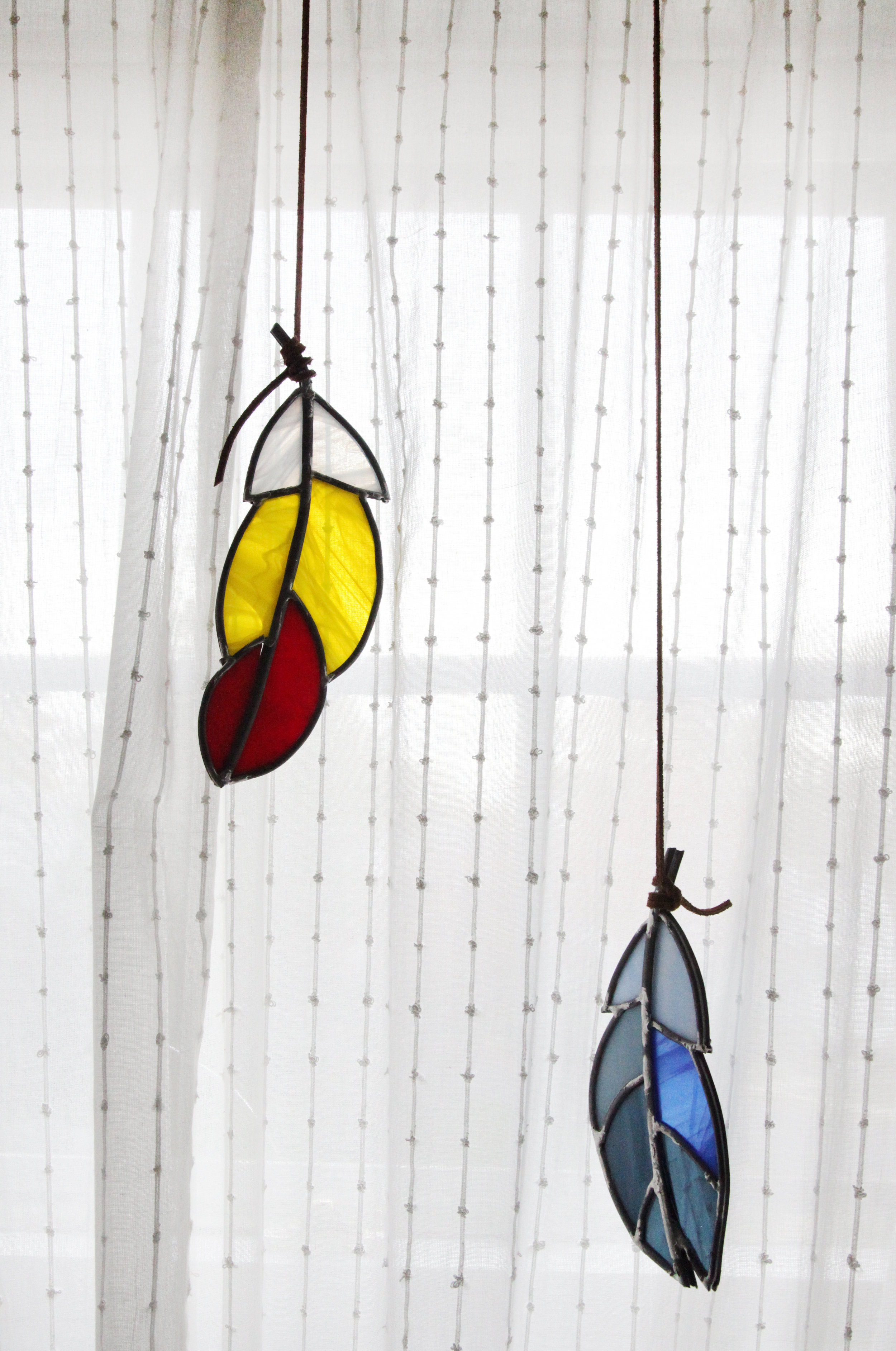I've been making stained glass windows since I was in high school- I have a glass grinder and all the works!