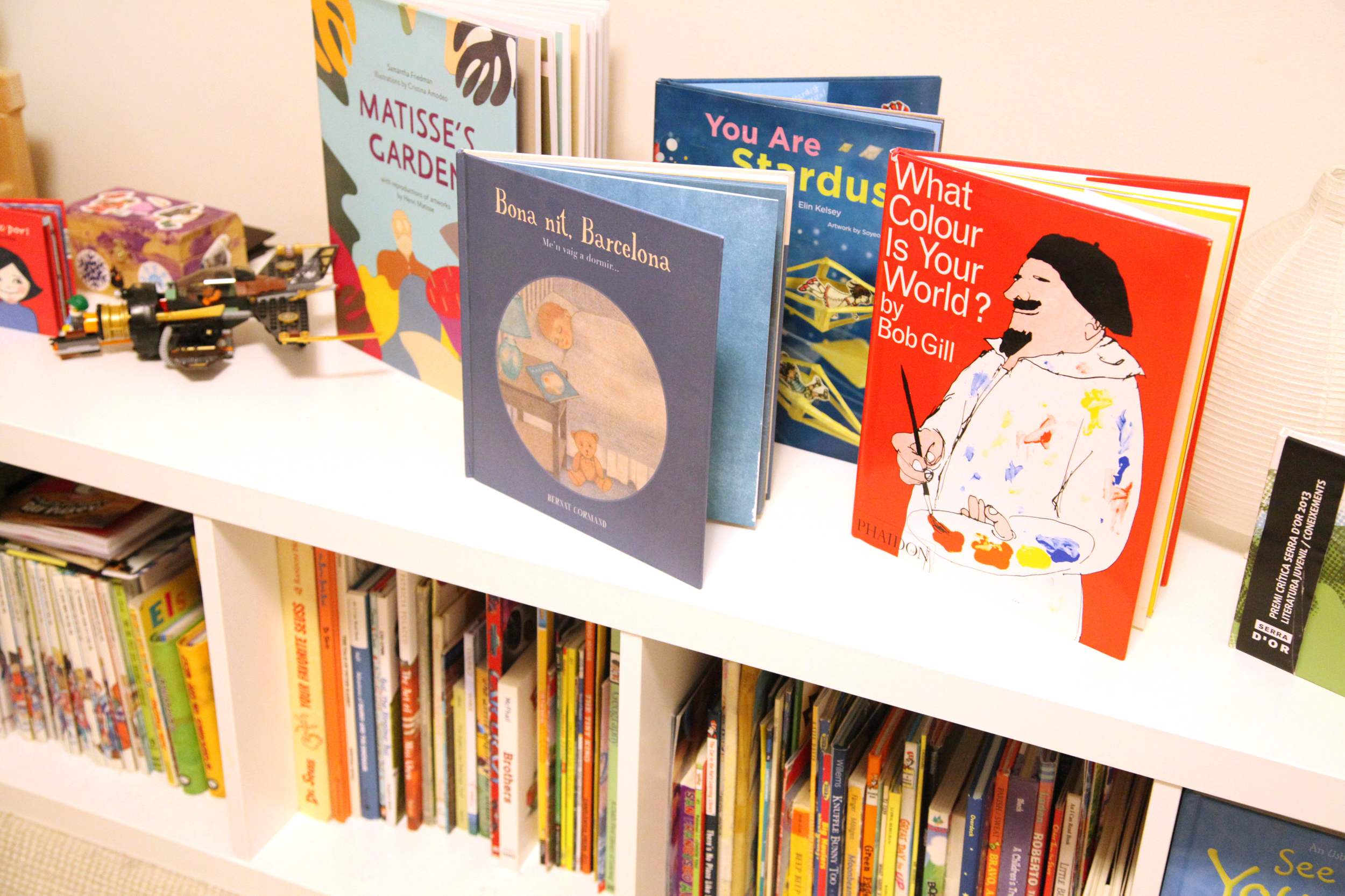 Some favorite stories:  What Color is Your World  ,   Matisse's Garden  ,   Your are Stardust  , and   Bona Nit, Barcelona.