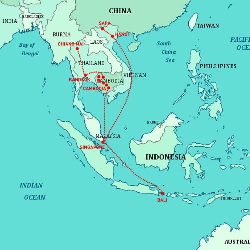 The Superfussy Trip: A map to mark the globe-trotting family adventure.