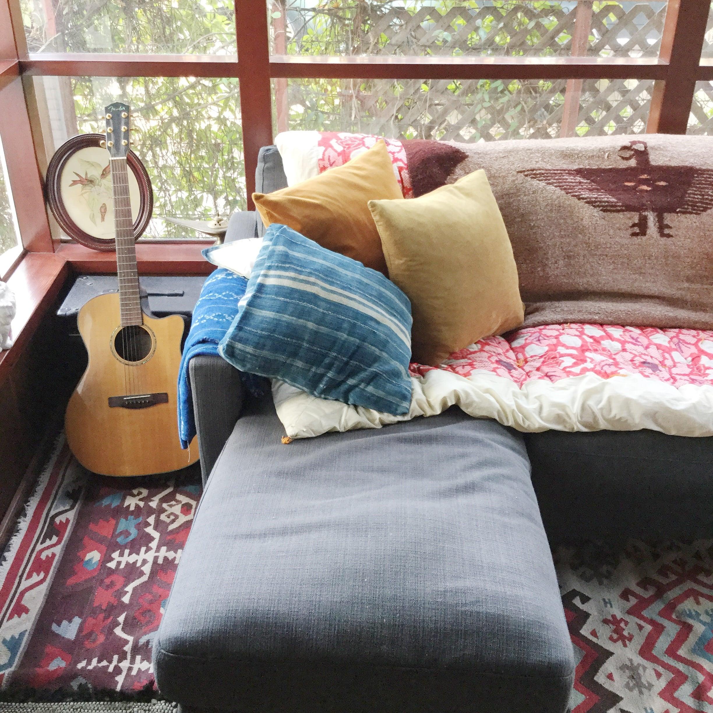 Shibori pillows made at   Beth's   workshop.