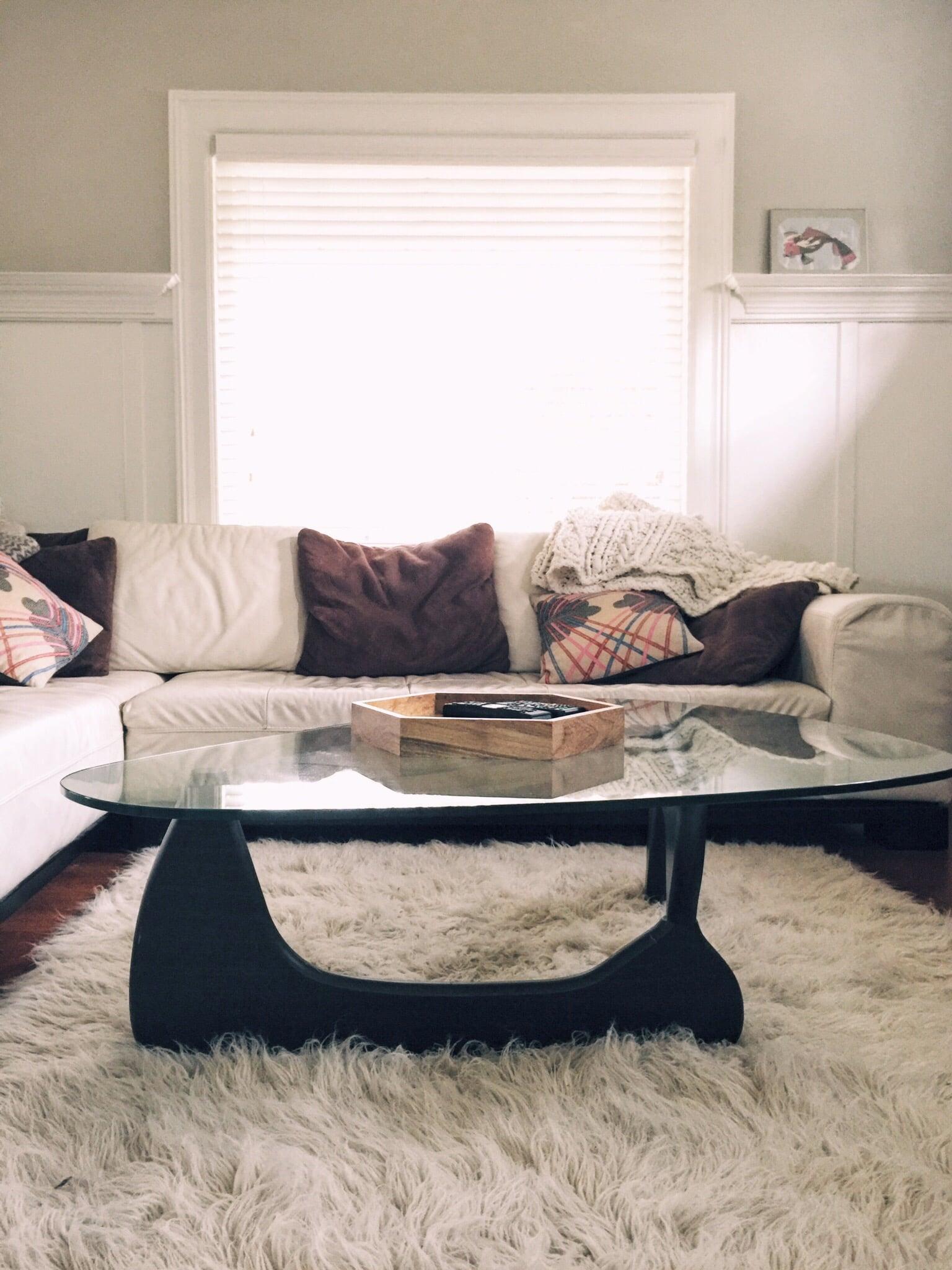 Shag rug and unassuming glamour.