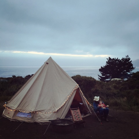 Summer camping in Big Sur