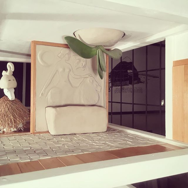 Meagan Donegan's teeny masterpiece-in-progress including a succulent chandelier!!