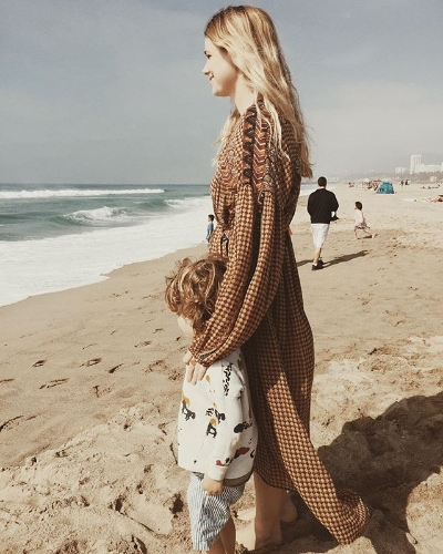 Katherine takes in the California coast.