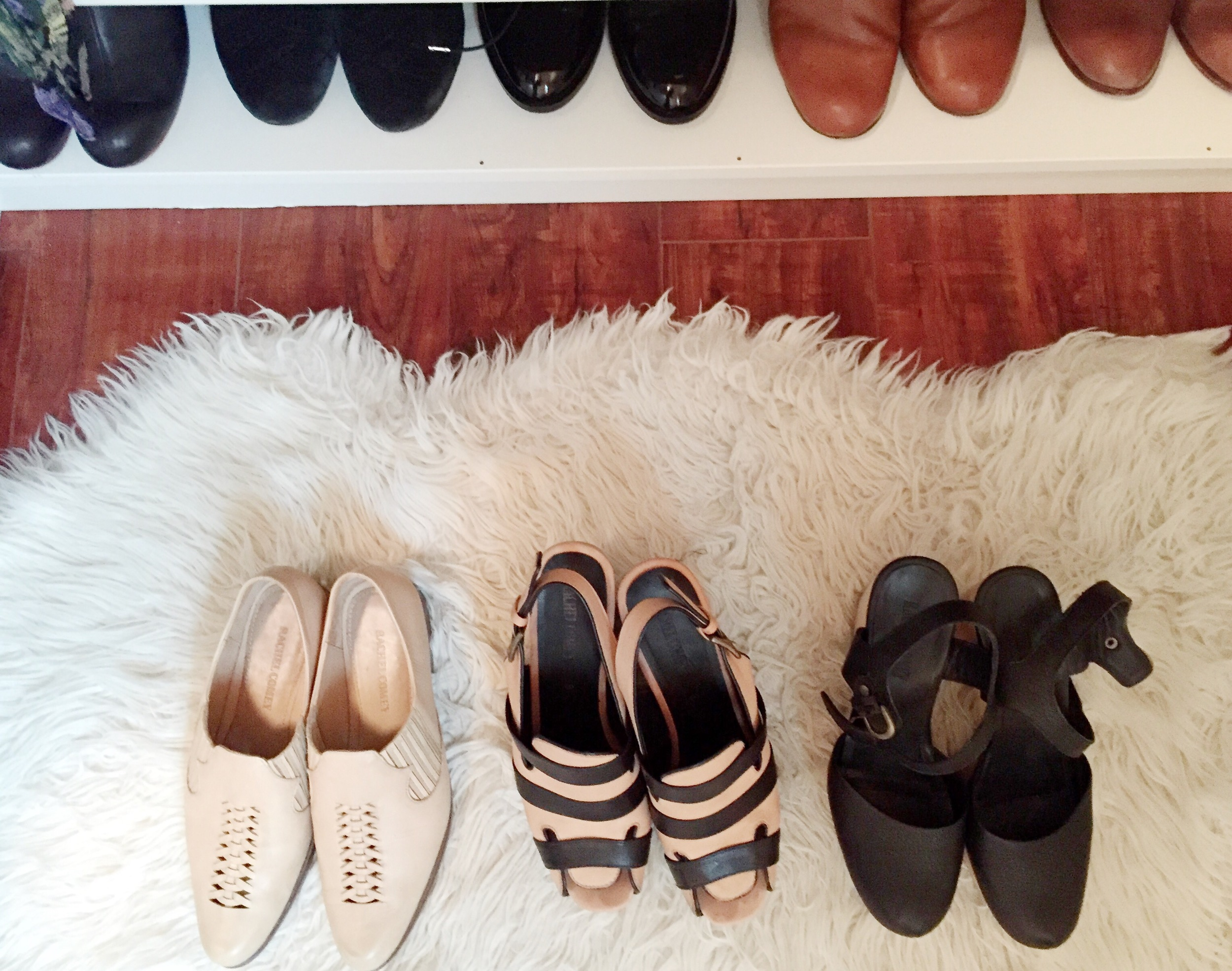 Olga's shoe collection goes on and on ...