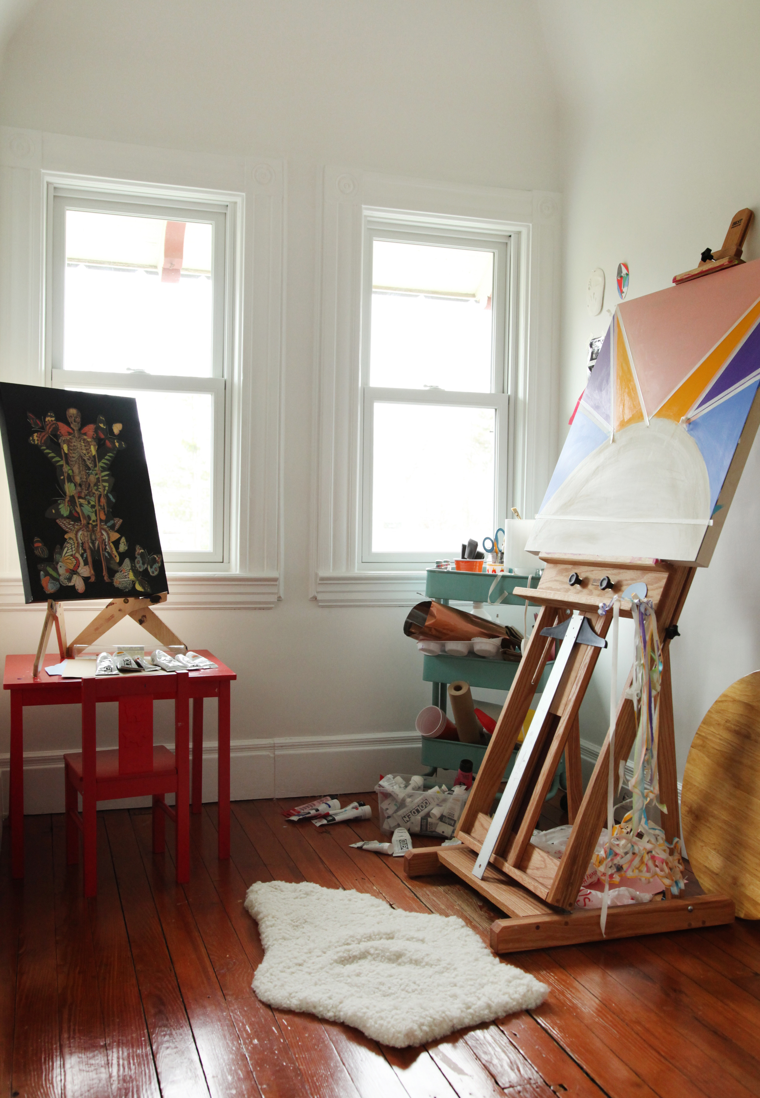 """We love the idea of the suburbs providing the opportunity for Danielle's rediscovery... a self-described """"homebody,"""" she's appreciates the quiet and is rewarding herself the commitment back to her art."""
