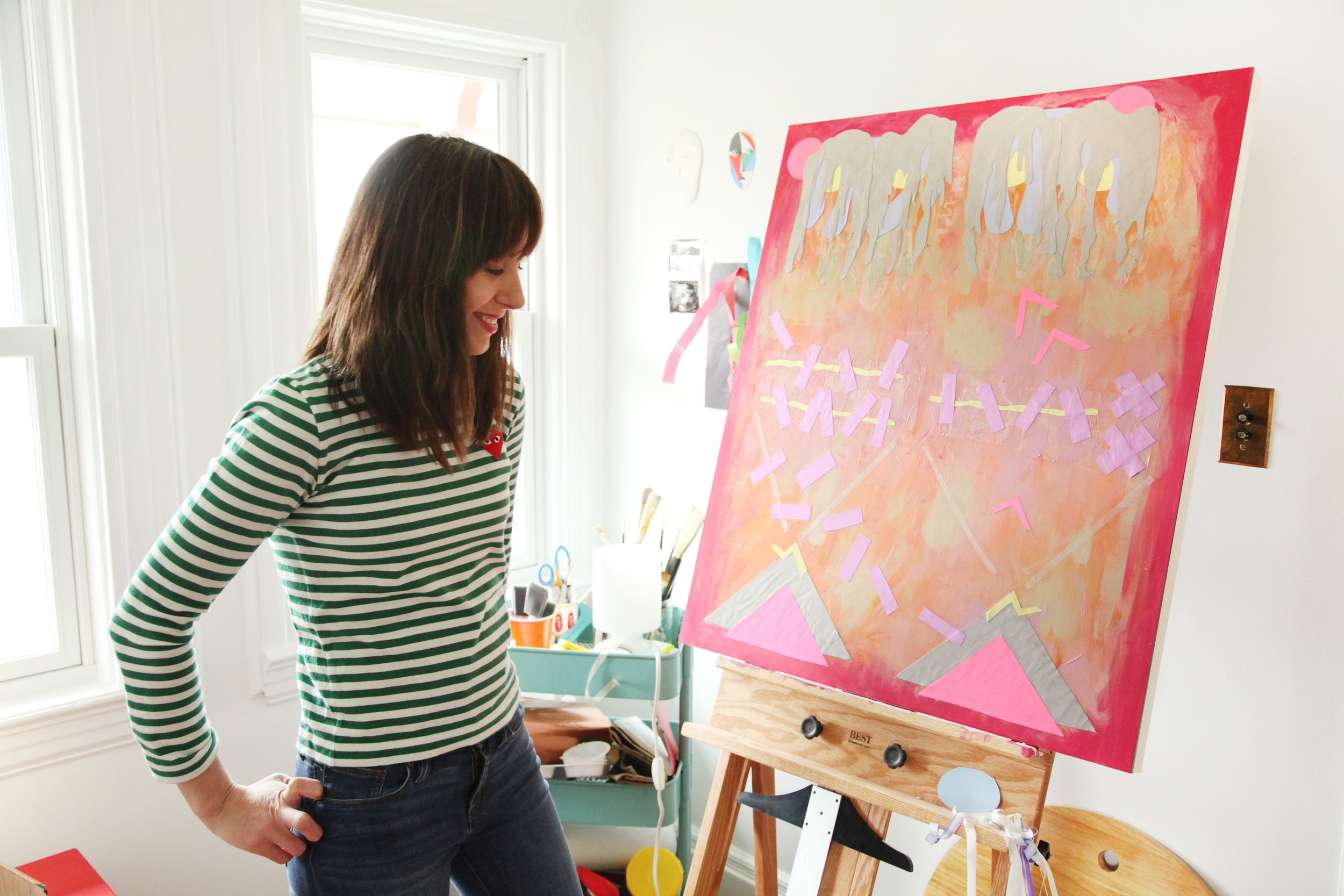 One of Danielle's first paintings in its early stage.