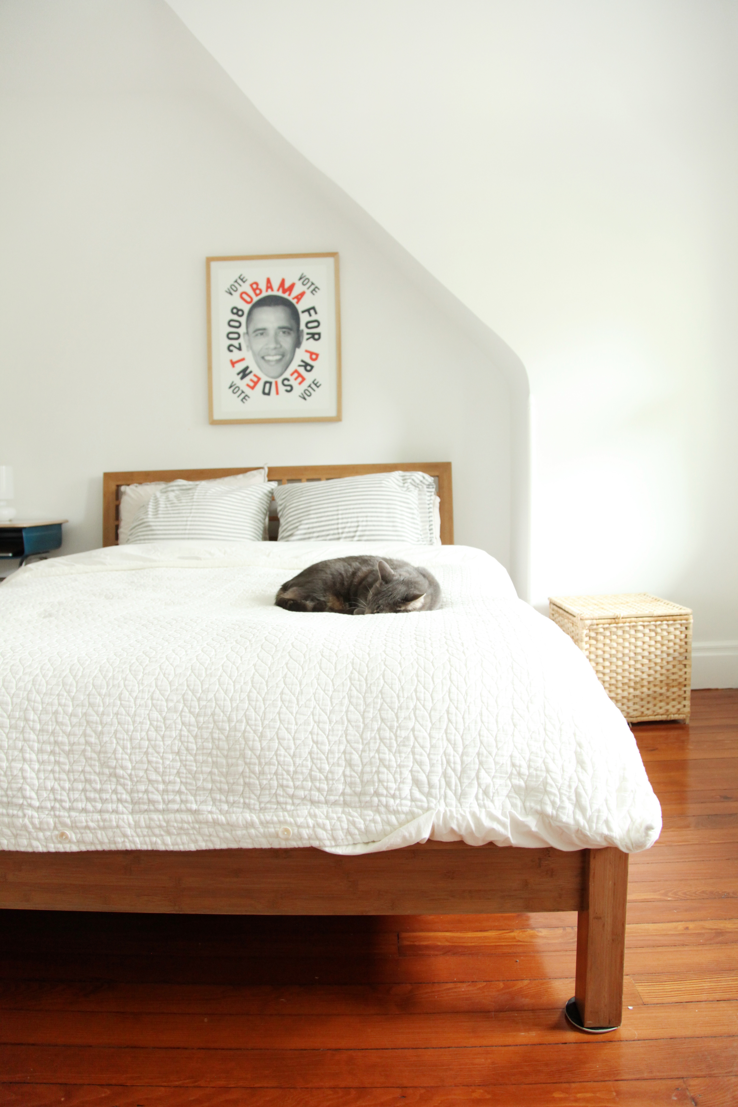 Cozy guest room suited for family visits.