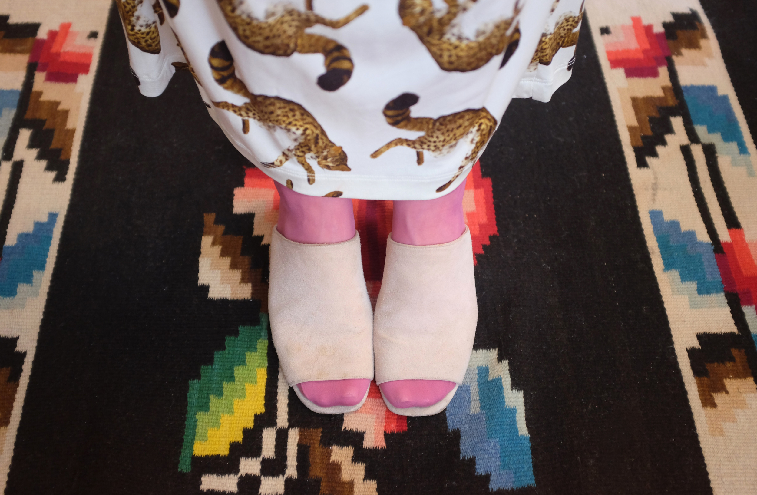 """Opening Ceremony skirt from Tokio 7; the shoes are MNZ from MILLE and the ankle socks are a gift from Hollie."""