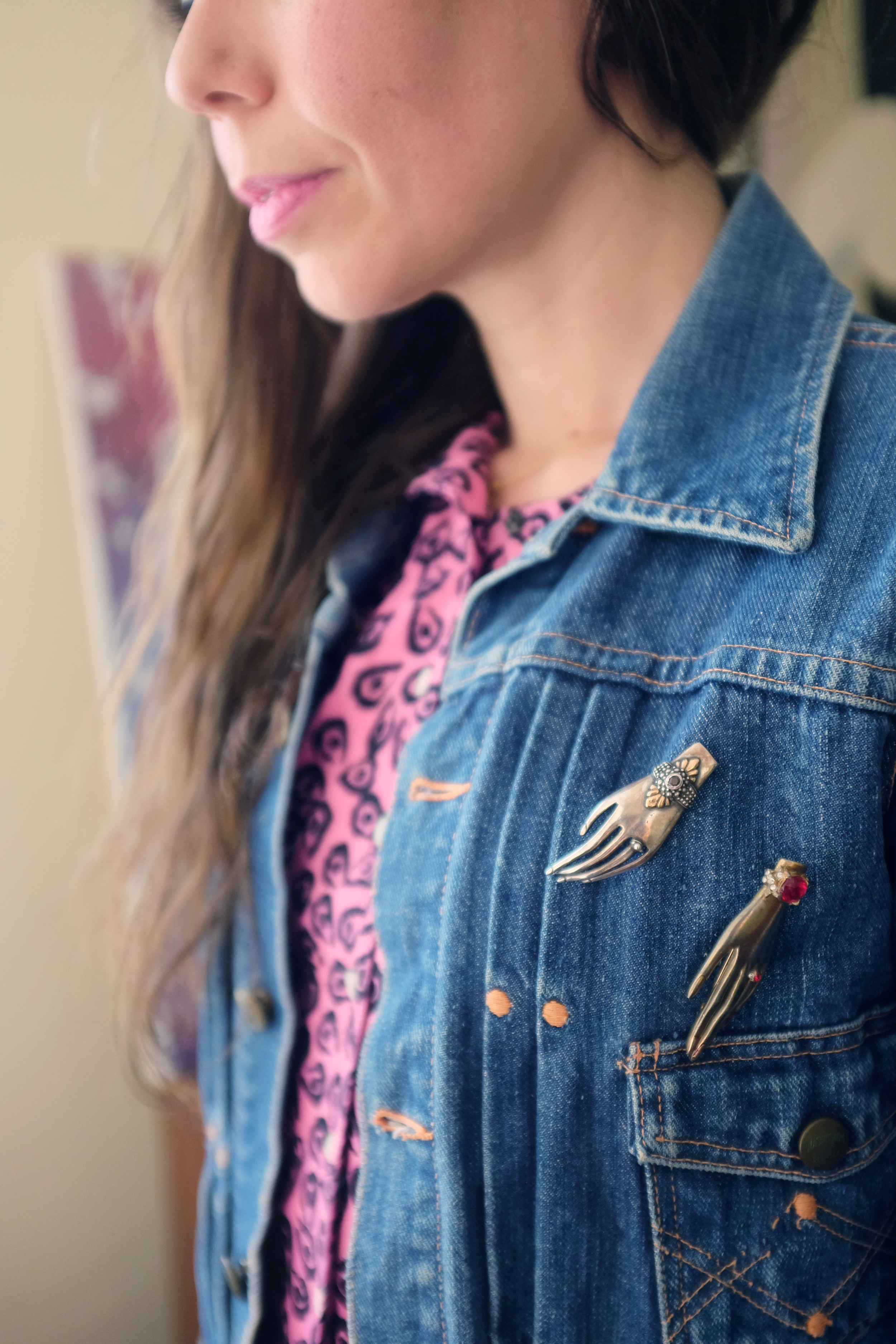 """Pins from Brimfield and eBay."""