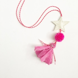 Kid's sweet starry tassel necklace by  H-Luv