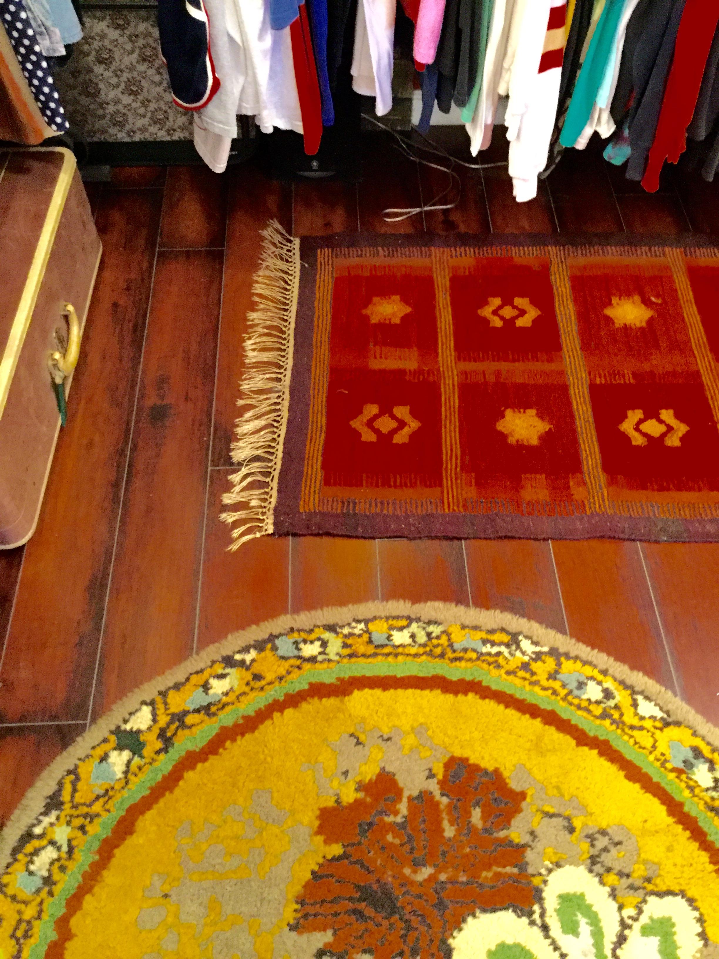 Bold textiles, rich colors.