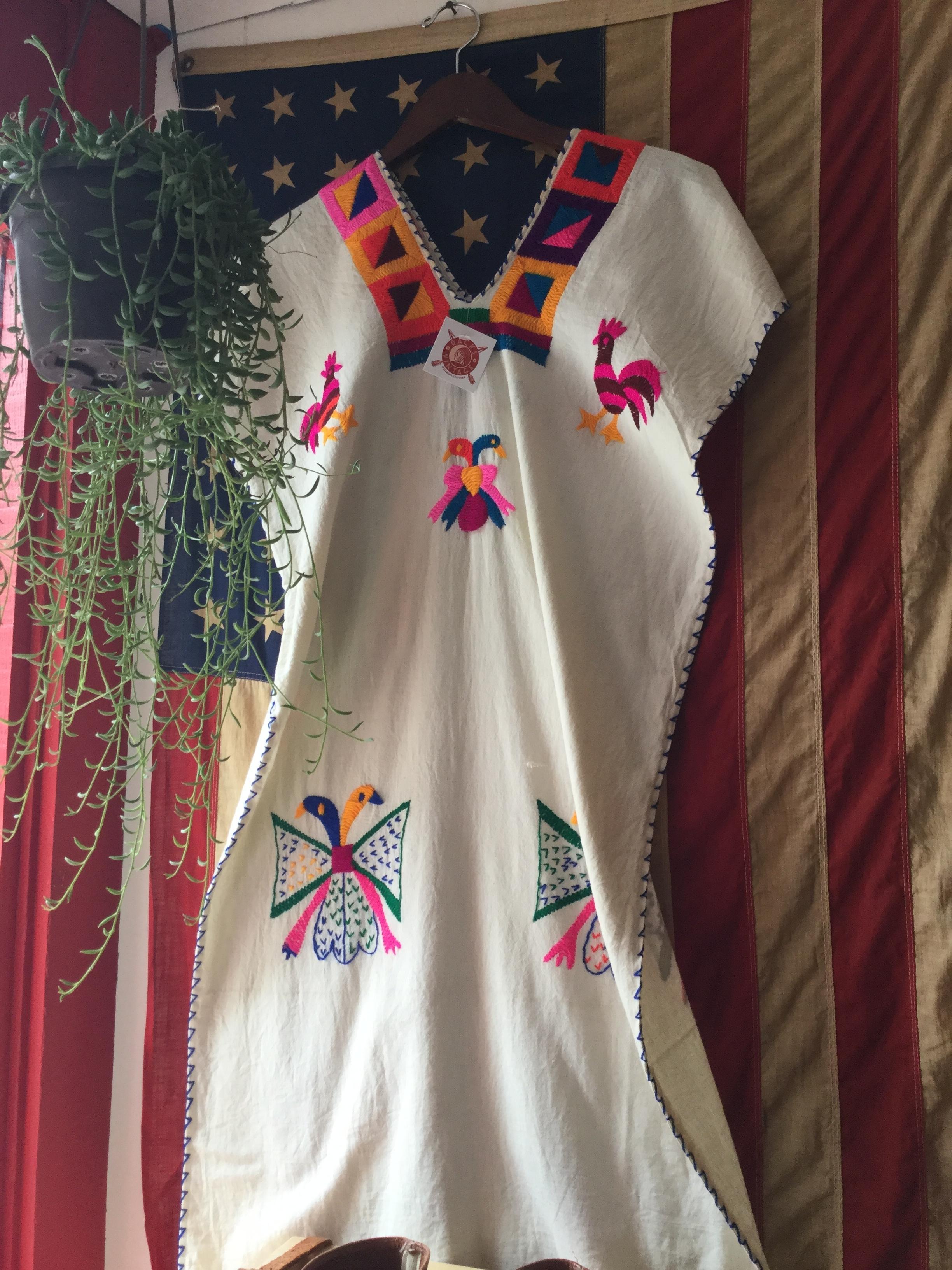 Oaxacan dress and Americana spirit.