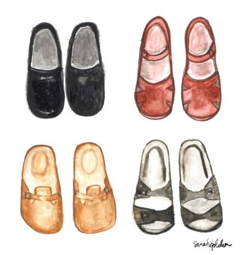 We adore this shoe painting from Sarah's portfolio!