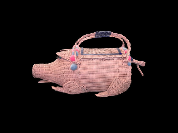 Wicker Piggie Basket