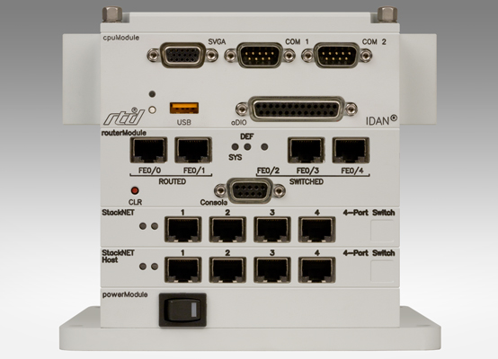 CPU, Router, and 8-Port Switch