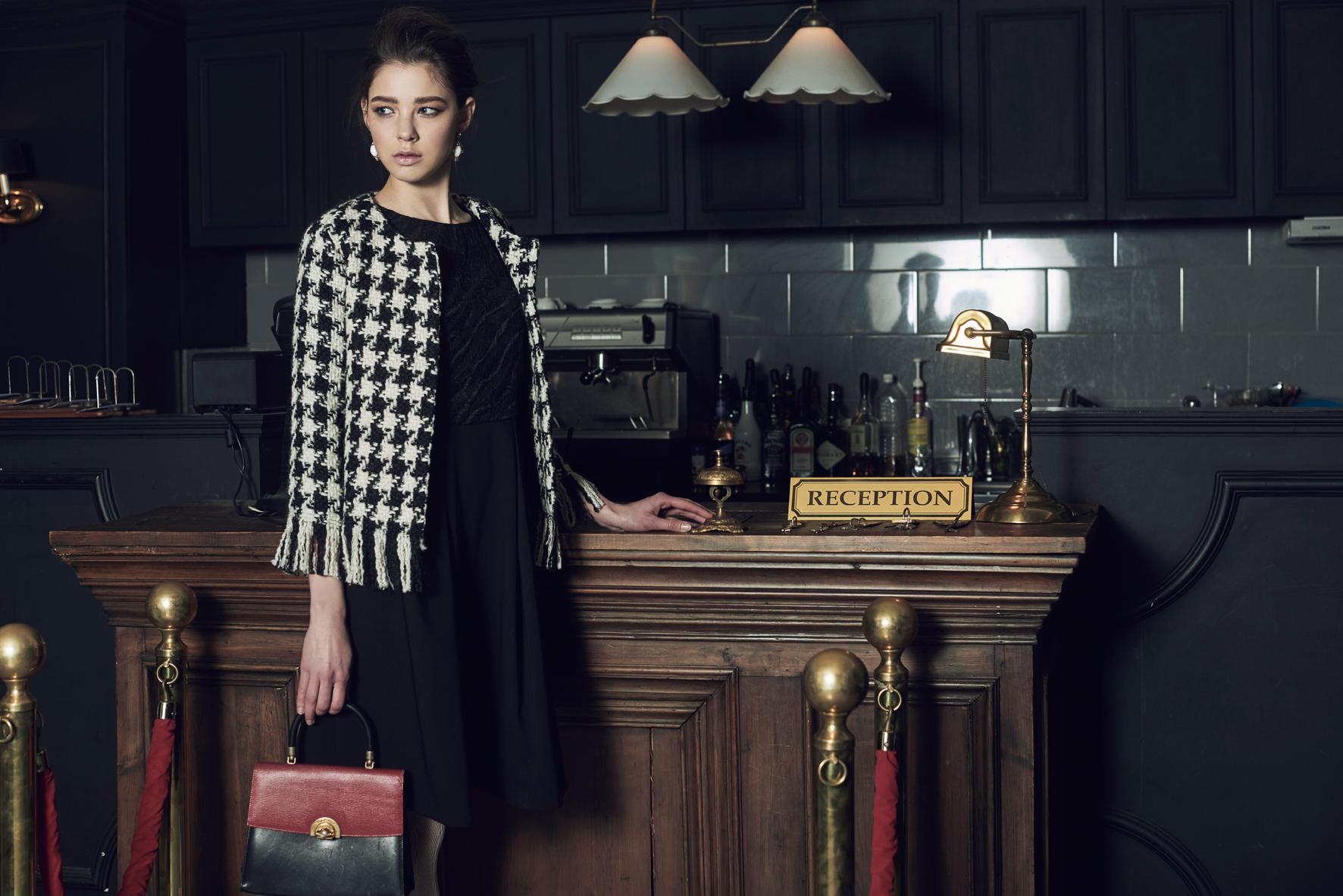 Fringe Jacket & Texture Volume Dress