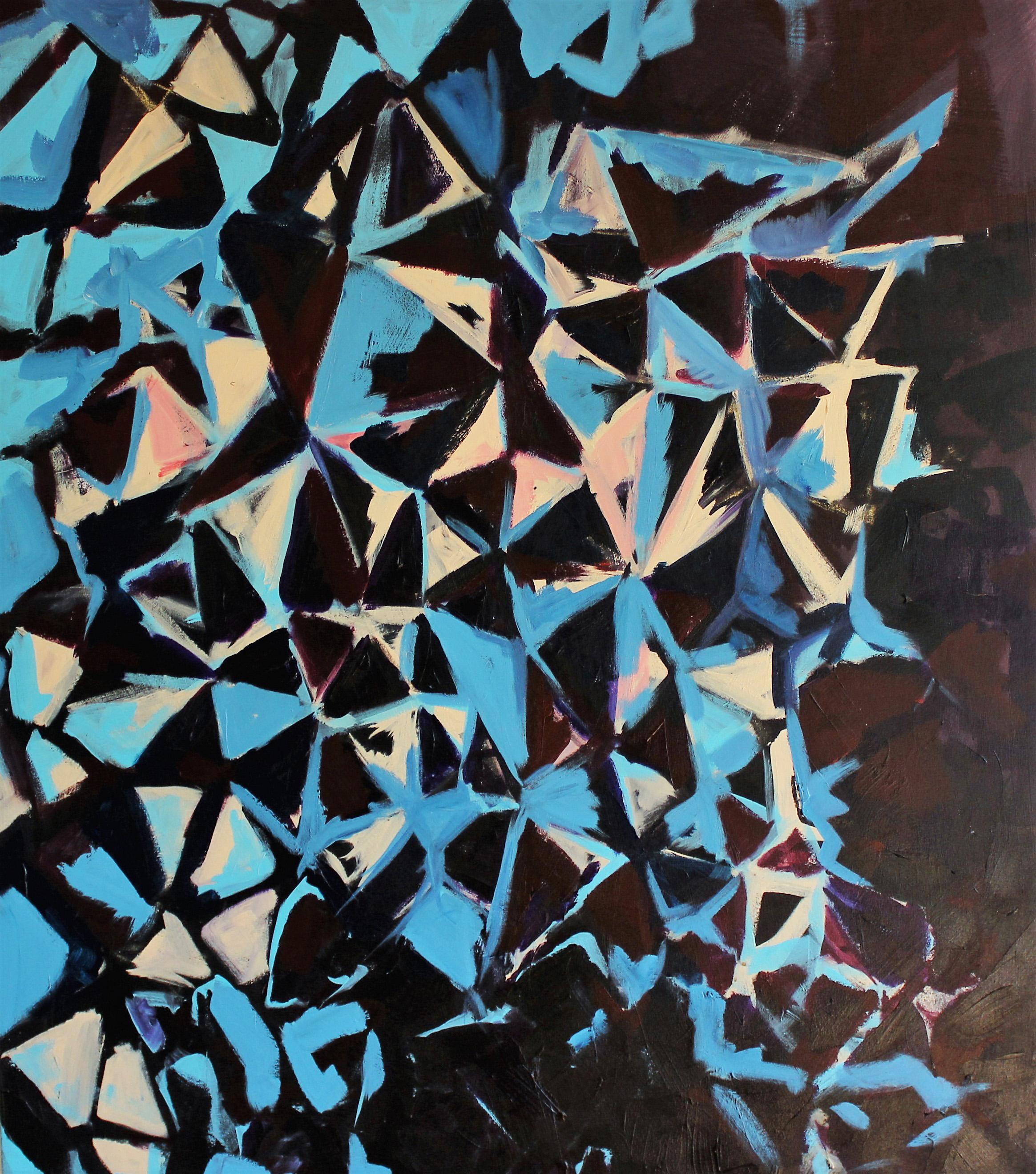 Study of a Blue & Pink Geometric